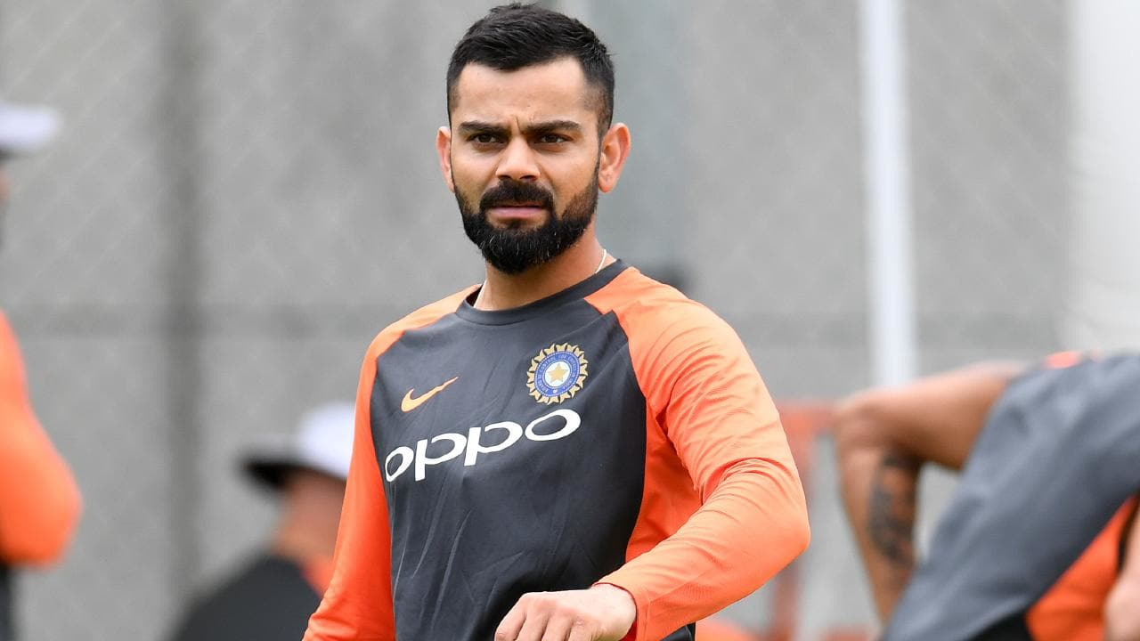 Indian cricket team captain Virat Kohli is seen during an India cricket team training session ahead of the Twenty20 opener in Brisbane.