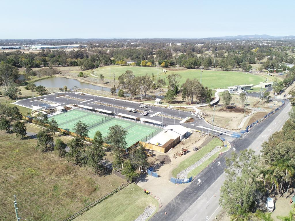 A new Council sports complex at Moggill.
