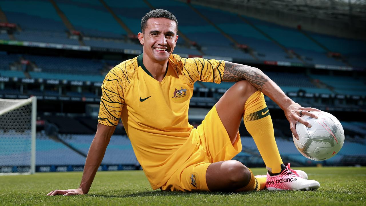 Socceroos star Tim Cahill pictured at ANZ Stadium where he will represent Australia for the last time in a friendly against Lebanon. Tim has played 107 games with the Socceroos and is the leading all time scorer with 50 goals. Picture: Toby Zerna