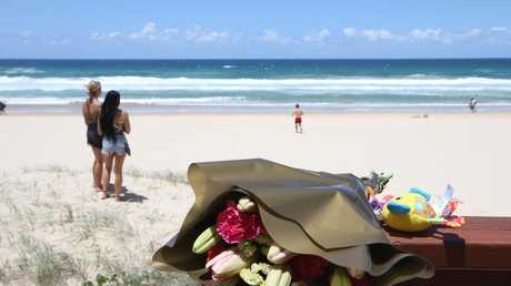 Tributes have been left for the baby girl. Picture: Glenn Hampson