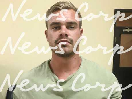 Melbourne man Aaron Paul Whitelaw, 22, of Melbourne, in police custody in Bali after being accused of assault in a Kuta street. Picture: News Corp
