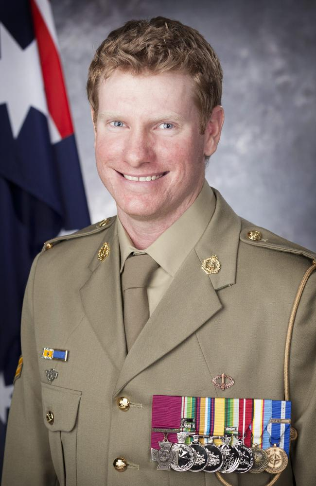 An official portraits for Corporal Daniel Keighran VC. Picture: Lauren Black/Australian Defence Force