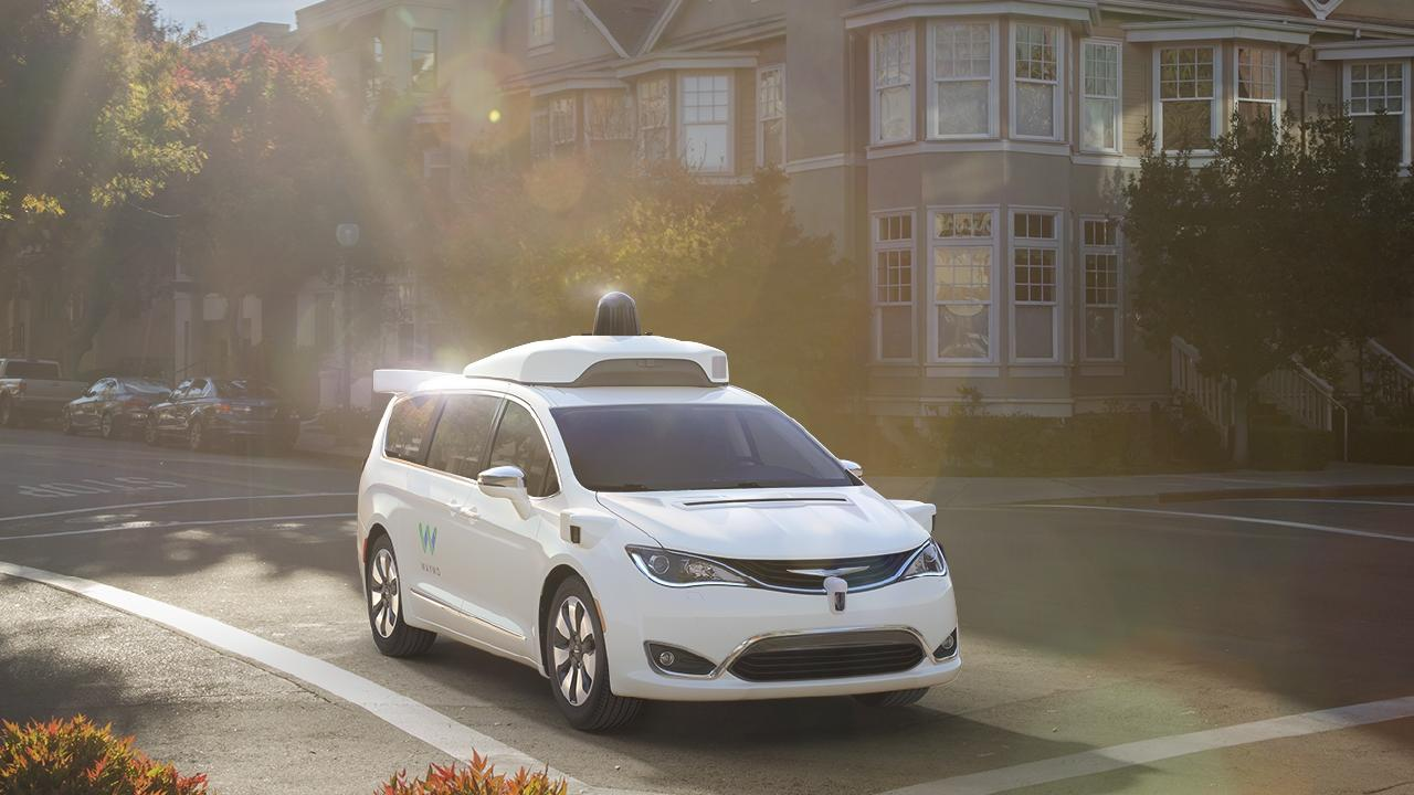 Waymo self-driving test vehicle.