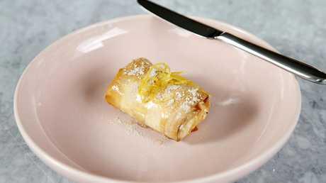 Bougatsa – filo custard with lemon syrup – at Hellenika. Picture; AAP/Josh Woning