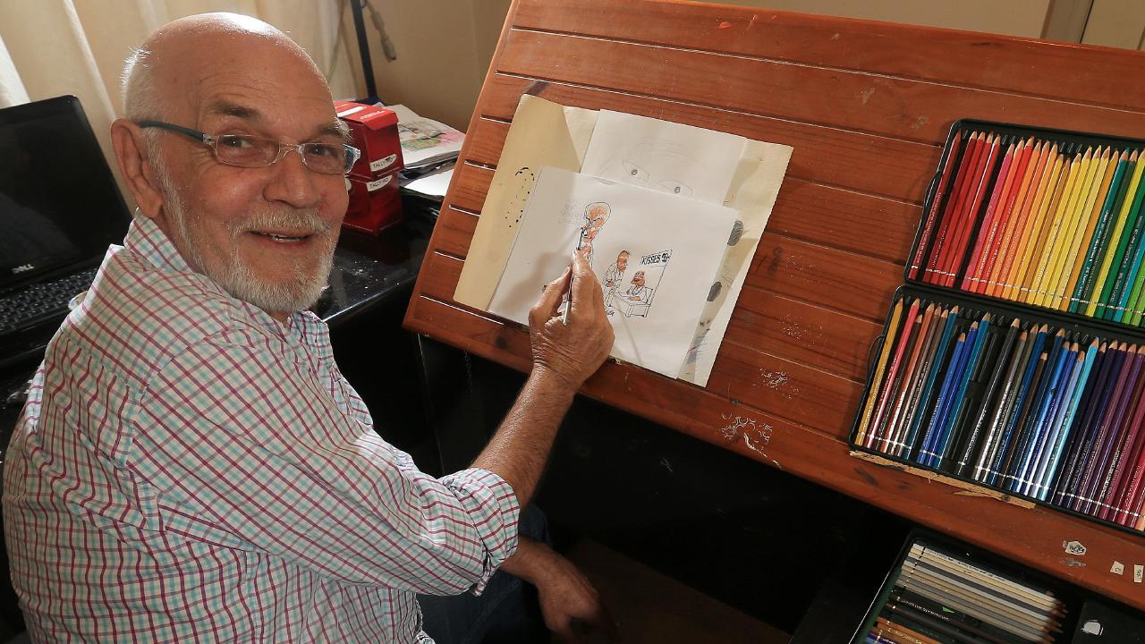 Cartoonist Larry Pickering. Photo: Regi Varghese