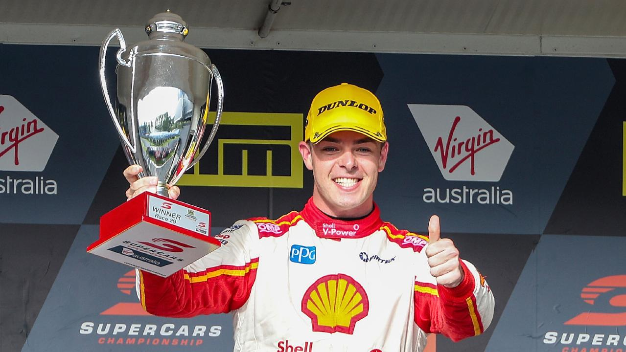 Scott McLaughlin holds a slim lead going into the final round. Picture: AAP