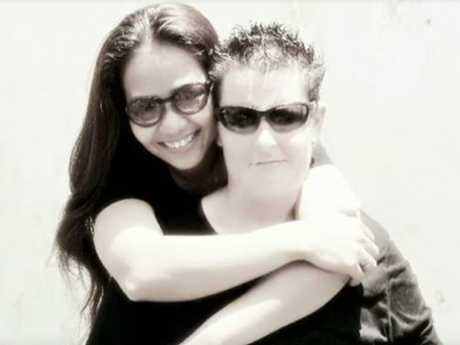 Bali Nine heroin courier Renae Lawrence with her girlfriend, fellow drugs prisoner Agus Erna Wijayanti.