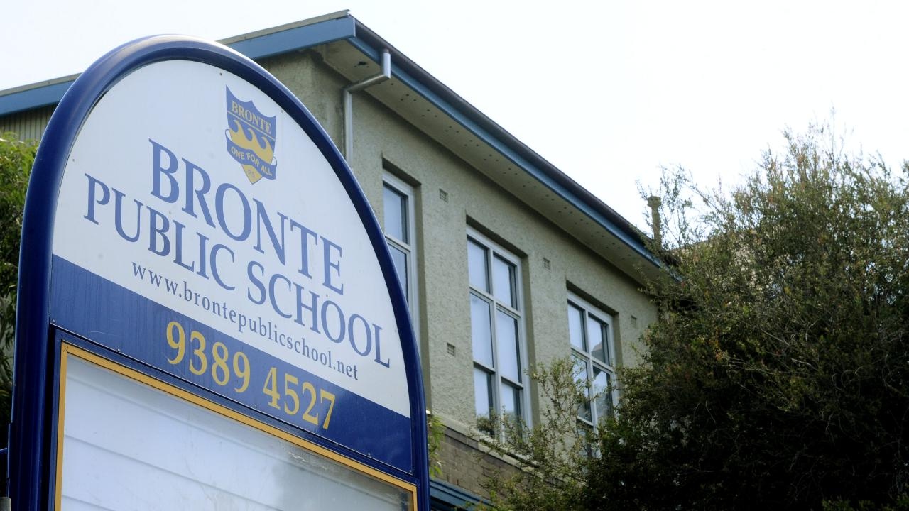 The outbreak happened at Bronte Public School. Picture: Supplied