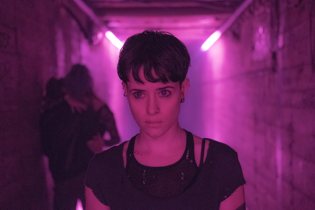 Claire Foy in a scene from the movie The Girl in the Spider's Web.