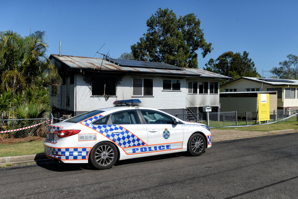 House fire on Tarcoola Street in East Ipswich on Tuesday night.
