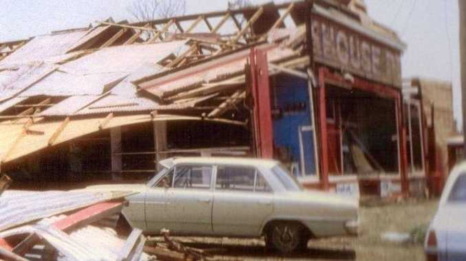 Backhouse's shop was badly damaged in the Killarney tornado of 1968.