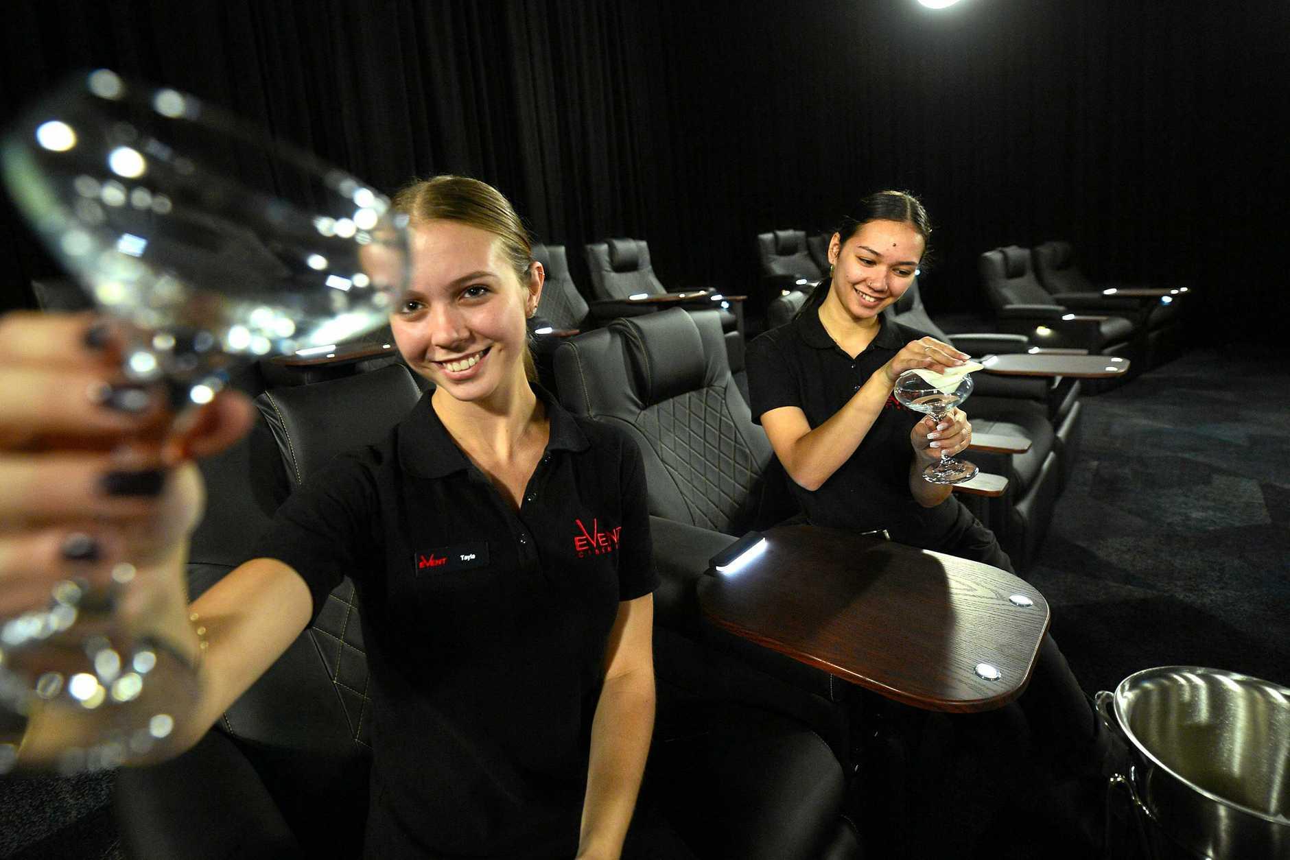 New cinemas  at Kawana Shoppingworld will be open soon. Tayla Dangerfield, 20, Buderim and Justiss Adams, 19, Beerwah.