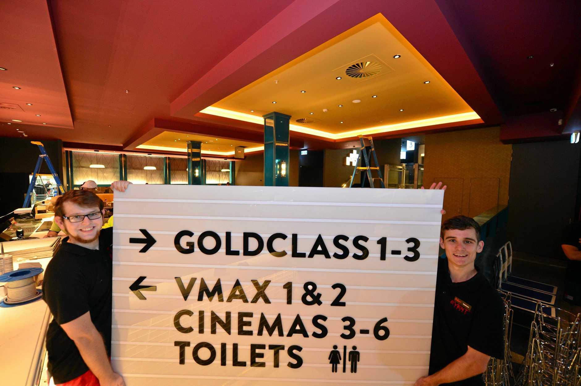 New cinemas  at Kawana Shoppingworld will be open soon.