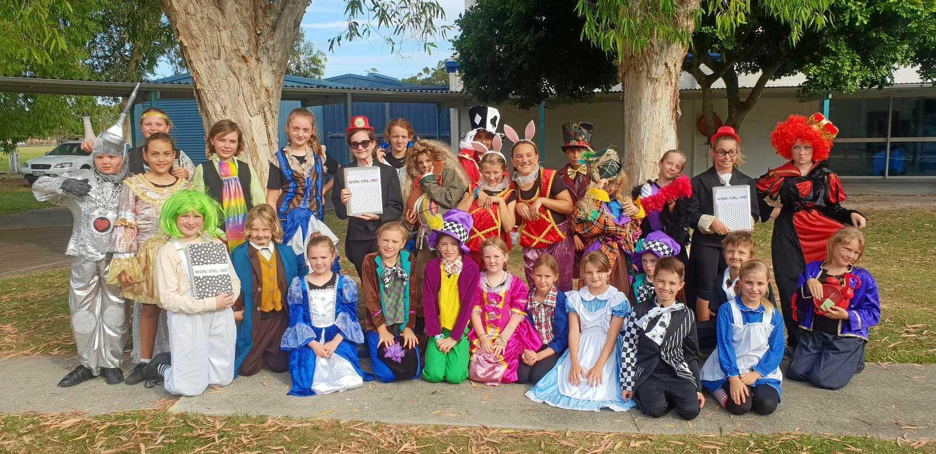 ORIGINAL PLAY: Cast members in the performance of  Wonderland .