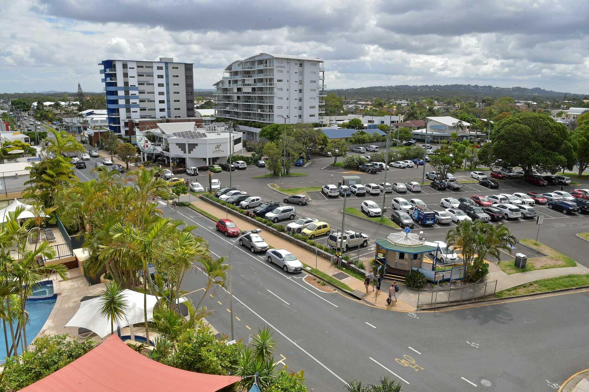 The Brisbane Road carpark at Mooloolaba.