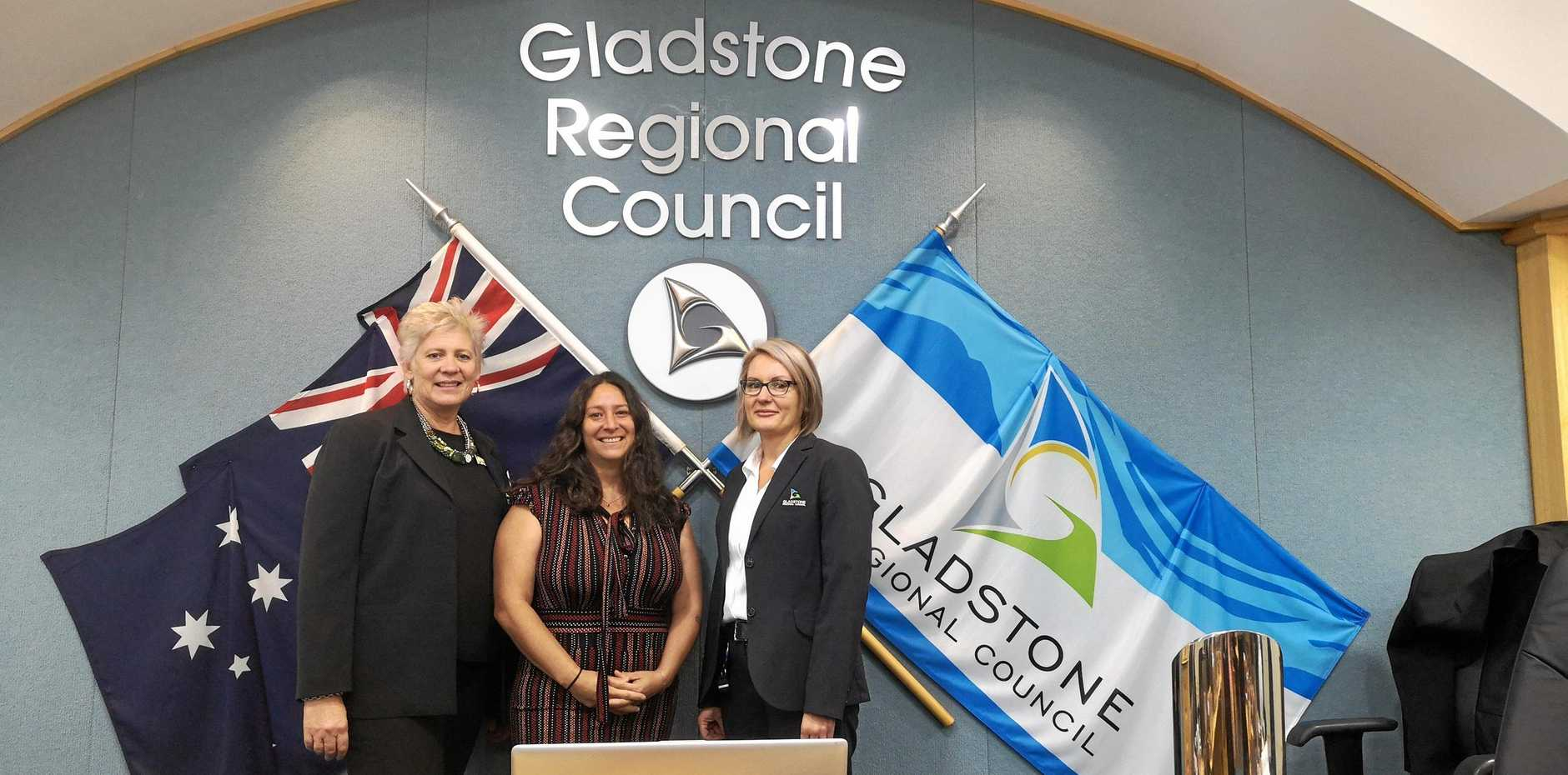 GIRL POWER: Gladstone region councillor Desley O'Grady, incoming councillor Natalia Muszkat and recently appointed Gladstone Regional Council CEO Leisa Dowling.