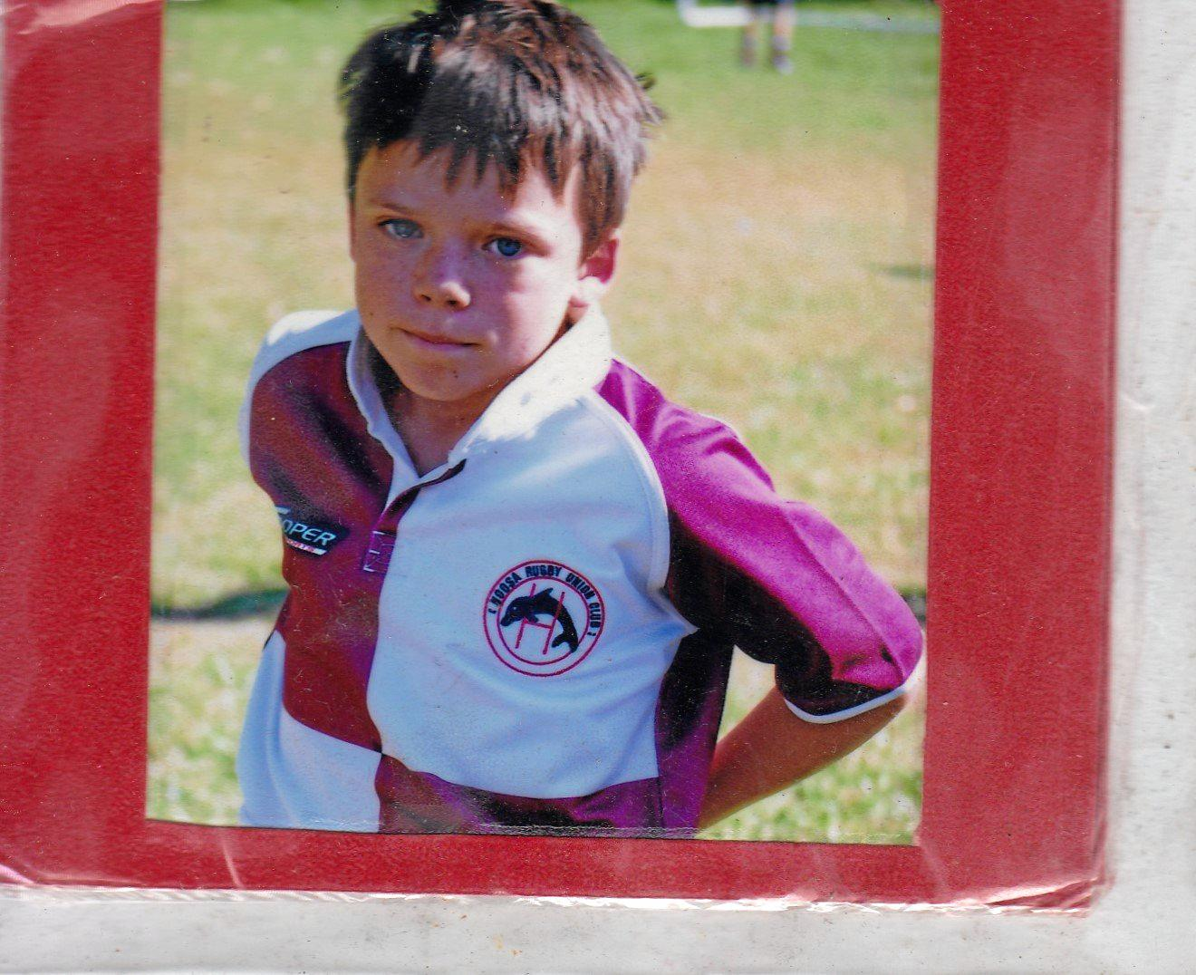 A young Jack O'Connor was always heavily involved in the community, having played for the Dolphins rugby team since he was in under-sixes.