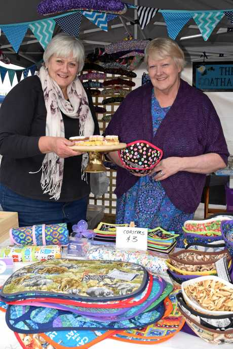 Debbie Quade from Miss Dee's Cakes (left) and Lynne Bradford from The Coathanger at the Potter's Craft Market for Jumpers and Jazz in July.
