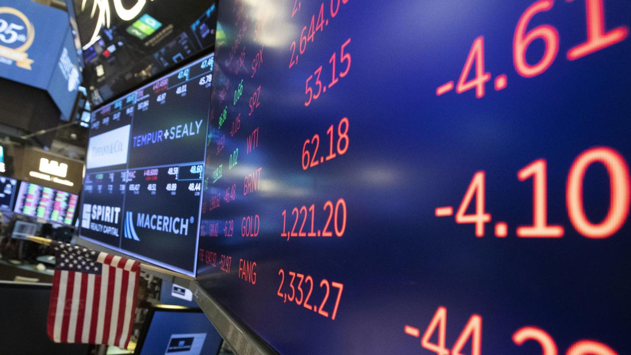 US stocks closed down on Tuesday as the Dow Jones and S&P 500 went negative for the year. Picture: Mark Lennihan/AP
