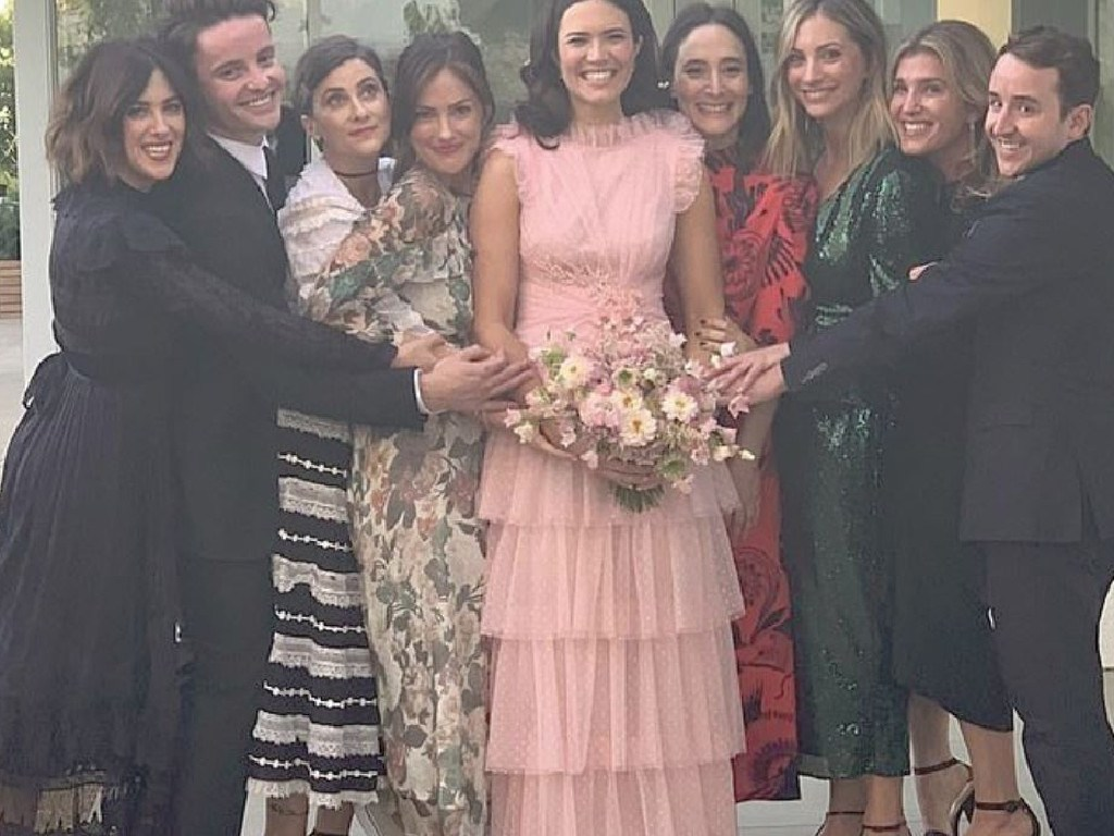 Mandy Moore with friends at her wedding. Picture: Instagram