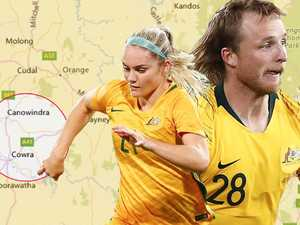 How tiny pocket of NSW produced a Socceroo and a Matilda