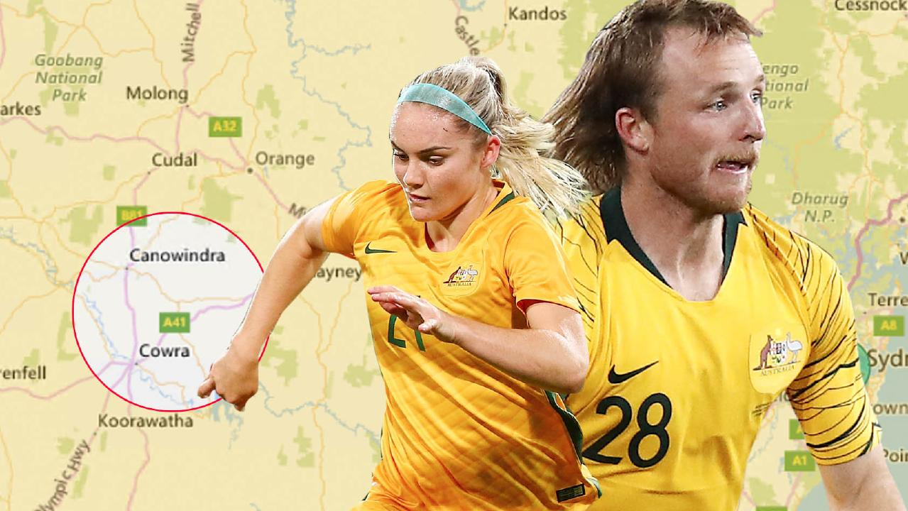 Ellie Carpenter and Rhyan Grant both come from a small pocket in Central West NSW.