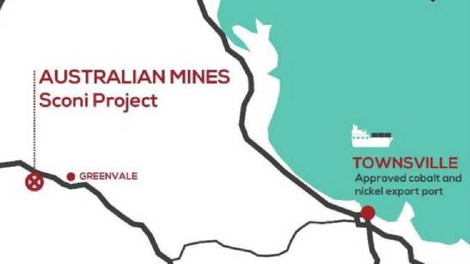 Map of Sconi mining project