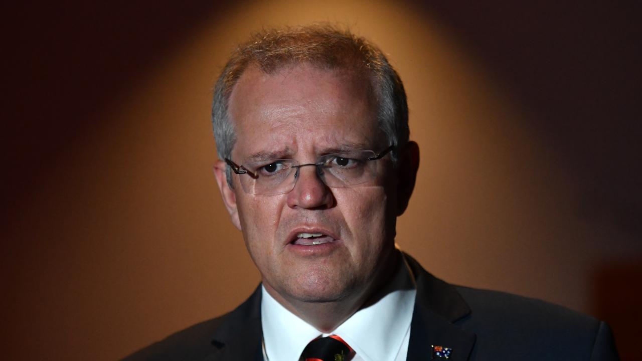 Australian PM Scott Morrison has slammed Tasmania's new gender law. Picture: Mick Tsikas/AAP