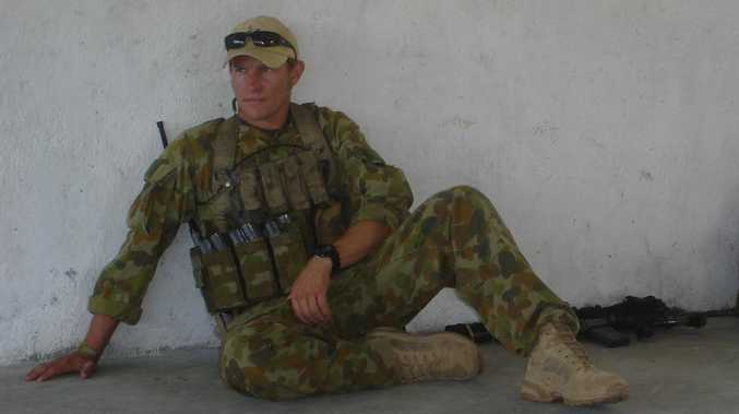 Damien Thomlinson in Afghanistan before a Taliban explosive device changed his life.