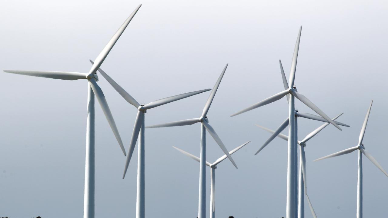 Wind turbines on hills near Ararat in Victoria. Picture: News Corp