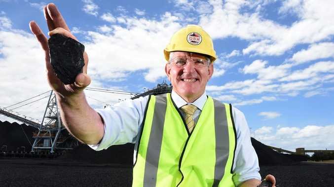 Coal at the Port of Brisbane.    QRC chief Ian Mac
