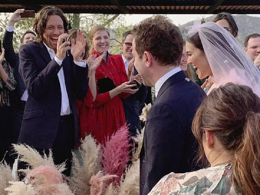 Friends posted pics of the ceremony to Instagram. Picture: Instagram