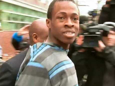 Chanel Lewis pictured after his arrest in Karina Vetrano's murder. Picture: Eyewitness News