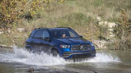 The GLE can reportedly even bounce itself out of sand thanks to its suspension.