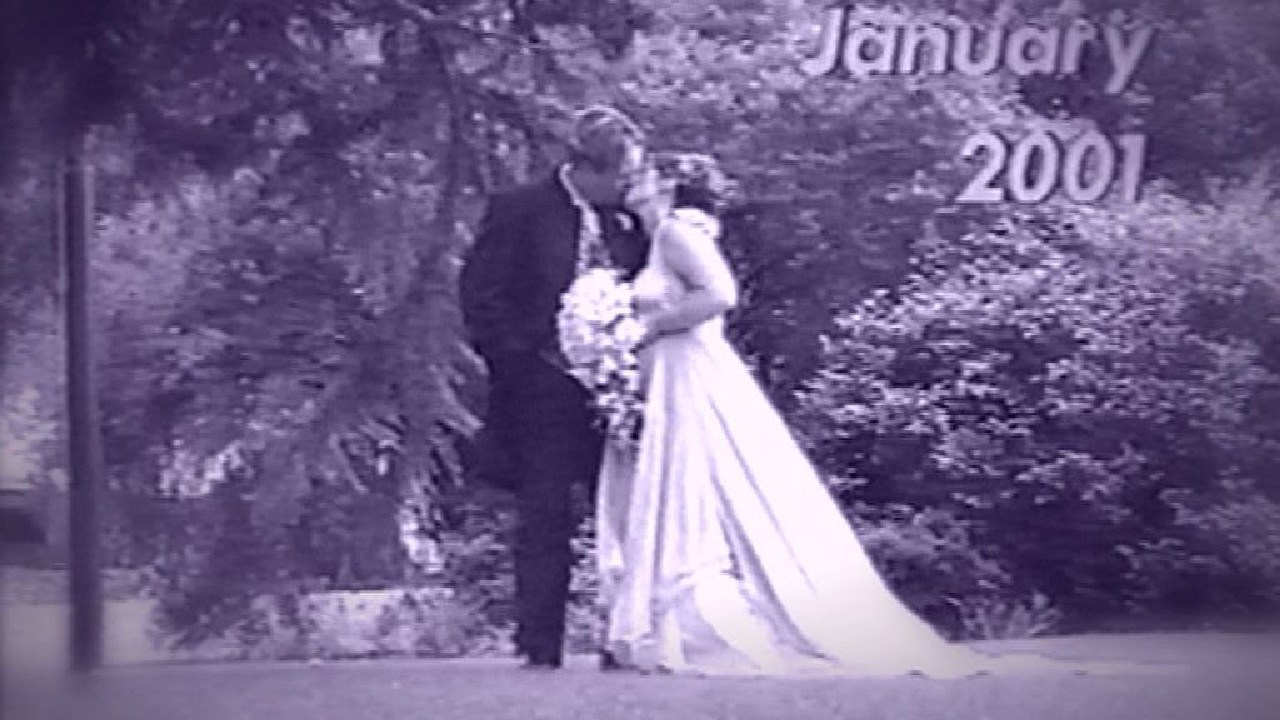 A still from Carl and Roberta's wedding video. Picture: Supplied