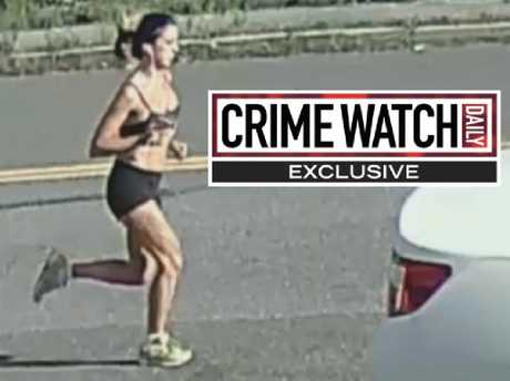 Jogger Karina Vetrano was captured on CCTV the day she was killed. Picture: Crime Watch Daily