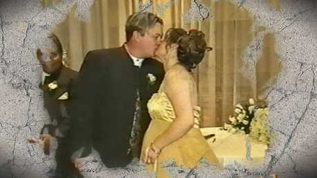 Roberta and Carl Williams tie the knot. Picture: Supplied