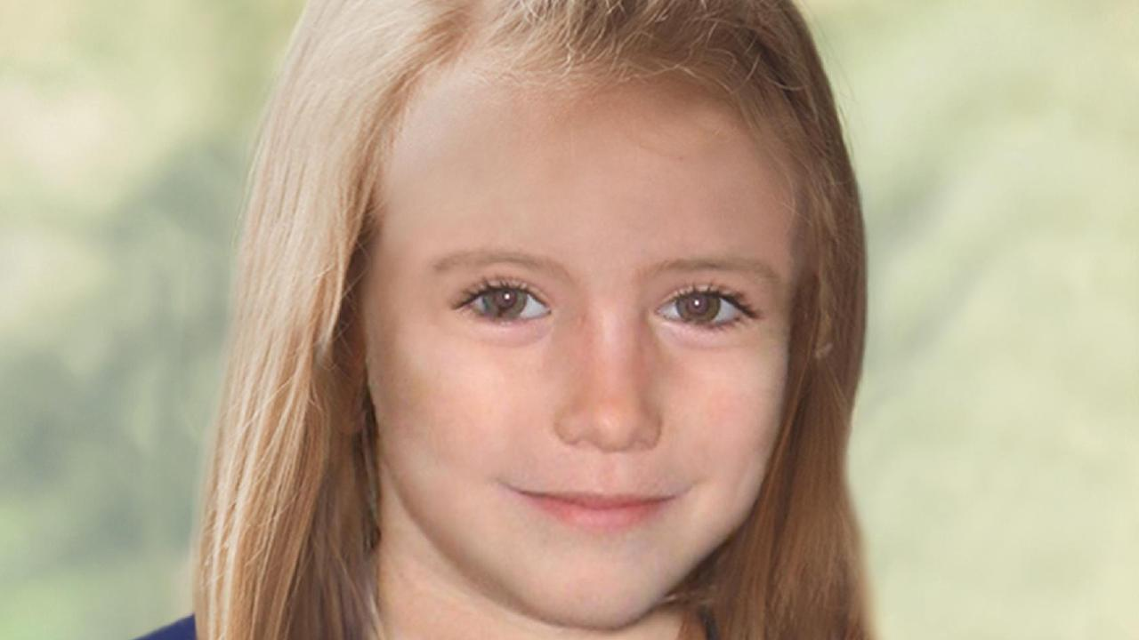 Missing child Madeleine McCann in an age progression computer generated image at 9-years-old. Picture: Supplied