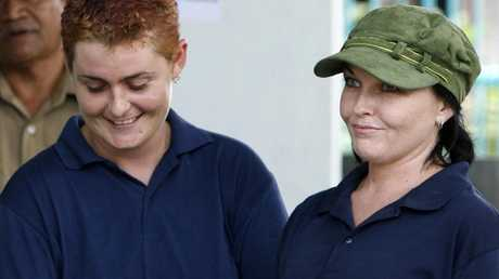 Convicted drug traffickers Schapelle Corby (right) and Renae Lawrence at Kerobokan Prison in Denpasar in 2008.