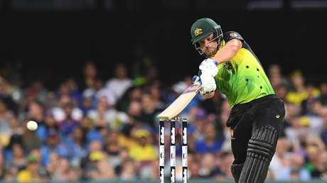 Aaron Finch skipped Australia to victory — but his batting left a little to be desired. Picture: AAP