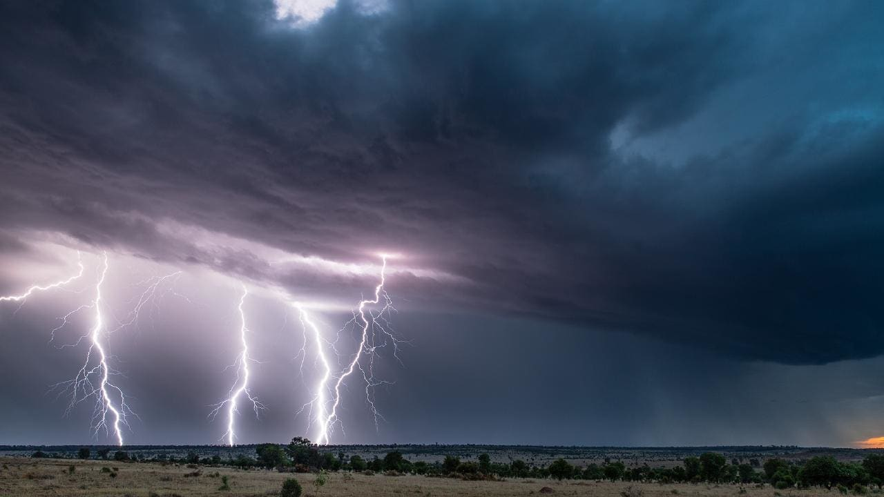 Daniel Hair captured this spectacular image of a thunderstorm in western Queensland yesterday along the Warrego Highway between Mitchell and Charleville. Picture: Daniel Hair/Severe Weather Australia