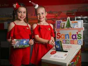 Jasmine Savige, 6 and Matilda Ryan, 5, posting their