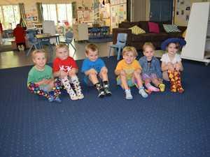 Kids from Ipswich Kindergarten Association wore crazy