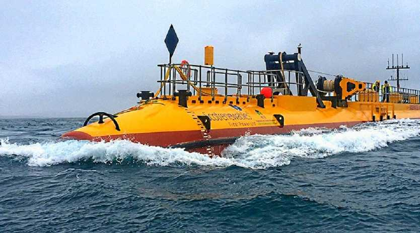 TIDE POWER: The Scotrenewables tidal power mega generator is all at sea and proving very effective.