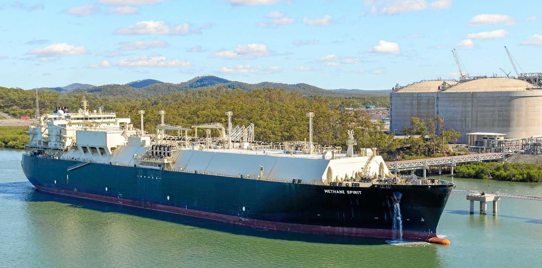 LIQUID GAS: LNG exports were set to increase over the next 12 months in Gladstone.