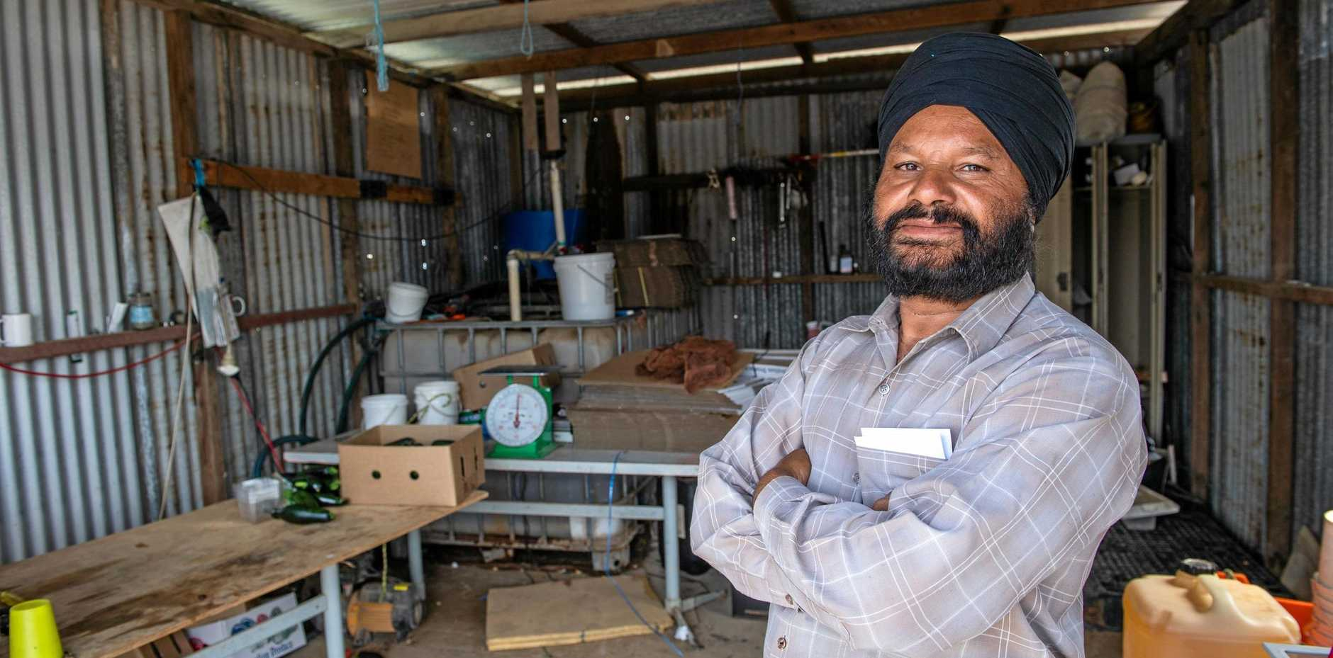 TWICE BITTEN: Farmer Jaswant Singh has been hit by thieves twice in the space of six months.