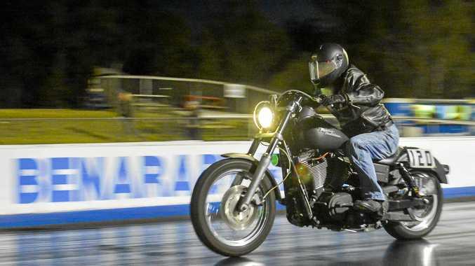 REV UP: Richard Culey Drag racing at Benaraby Motorsports Complex.