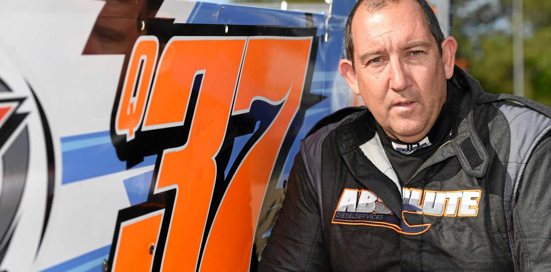 LOCAL HOPE: Phillip Roberts will be one to watch in the V8 Dirt Modifieds King of the Ring at Maryborough Speedway.