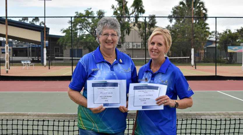 CVTA Life Members 2018 Peggy Sack and Helan Ambrey.