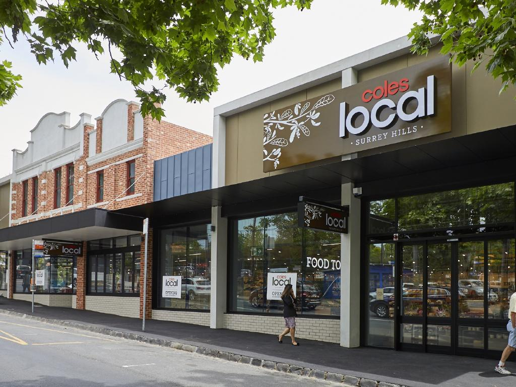 "Coles new small format ""Local"" pilot store in Surrey Hills, Melbourne."